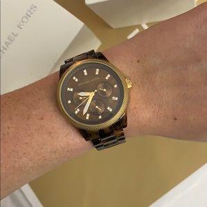 Michael Kors Accessories - MICHAEL KORS tortoise shell brown watch